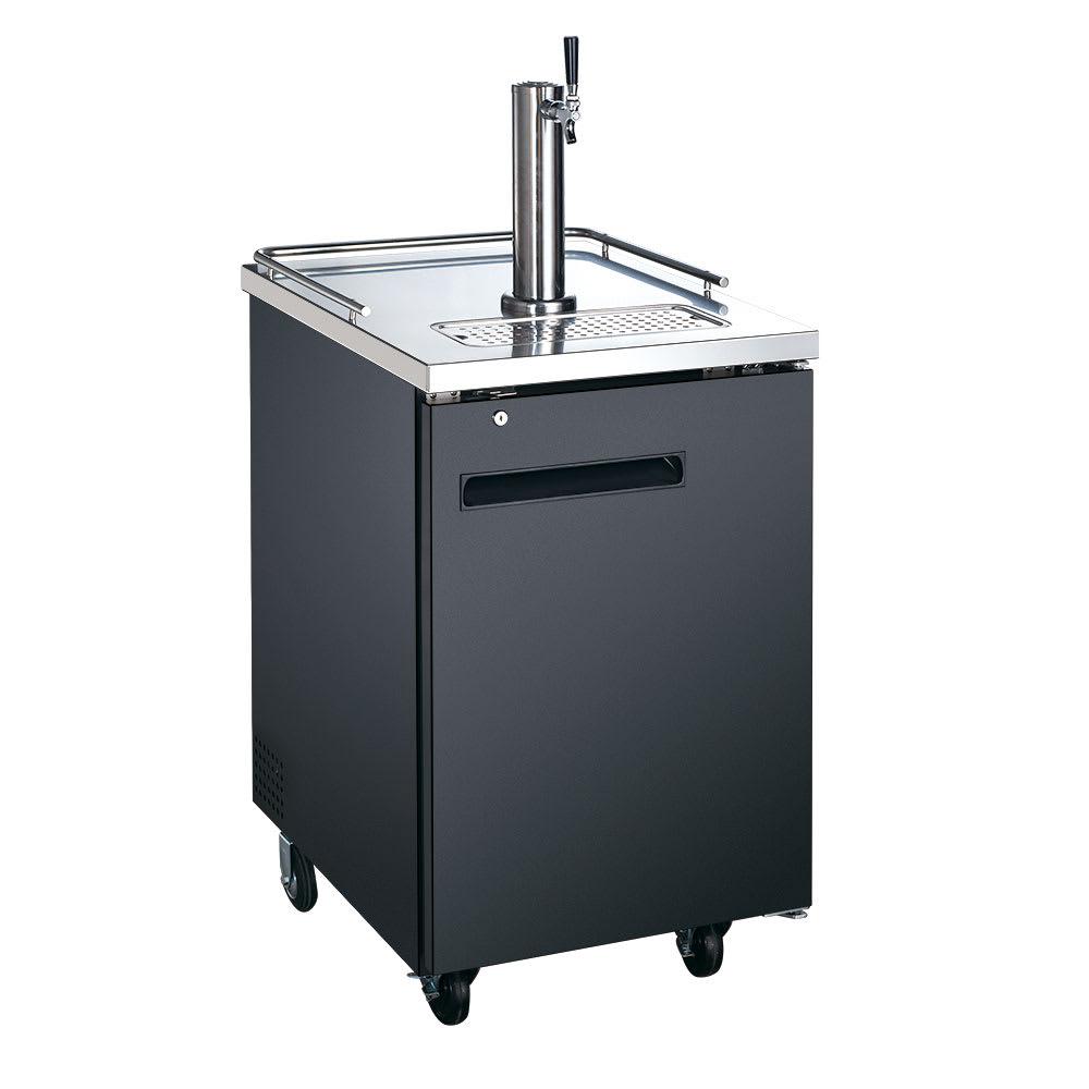 "eQuipped VUBD1 23.5"" Draft Beer System w/ (1) Keg Capacity - (1) Column, Black, 115v"