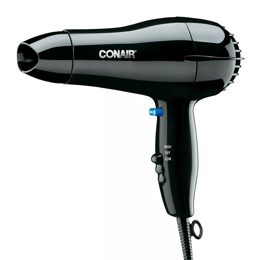 Conair Hospitality 047BW Compact Hair Dryer w/ Cool Shot Button - (2) Heat/Speed Settings, Black