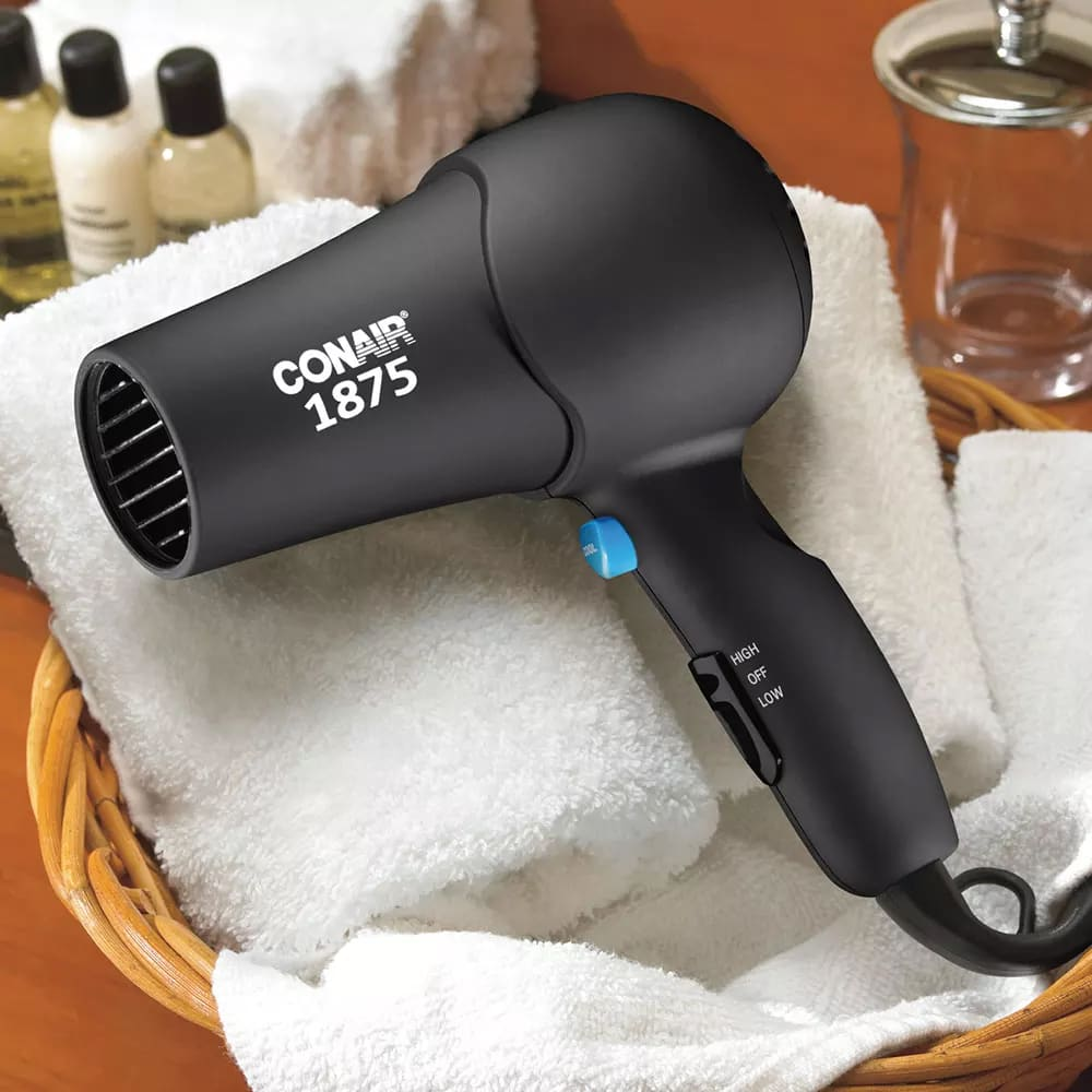 Conair Hospitality 152B Compact Hair Dryer w/ Cool Shot Button - (2) Heat/Speed Settings, Black