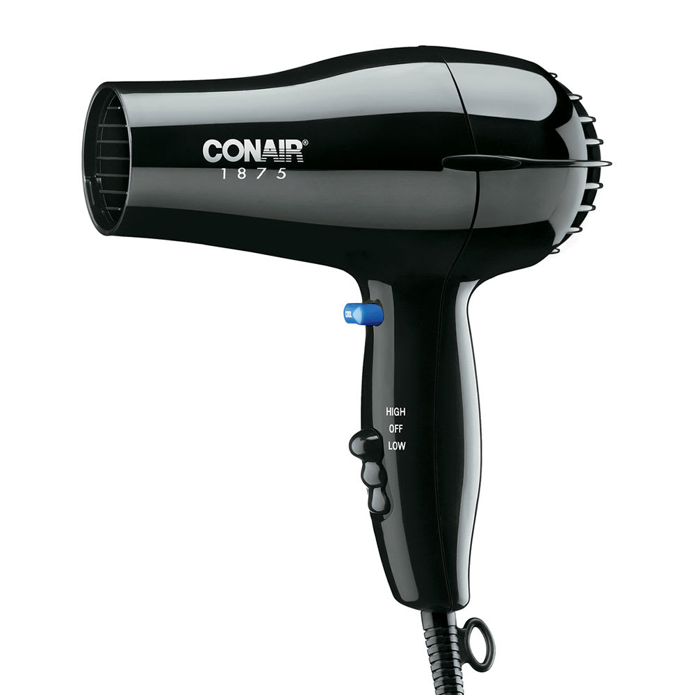 Conair Hospitality 247BW Compact Hair Dryer w/ Cool Shot Button - (2) Heat/Speed Settings, Black