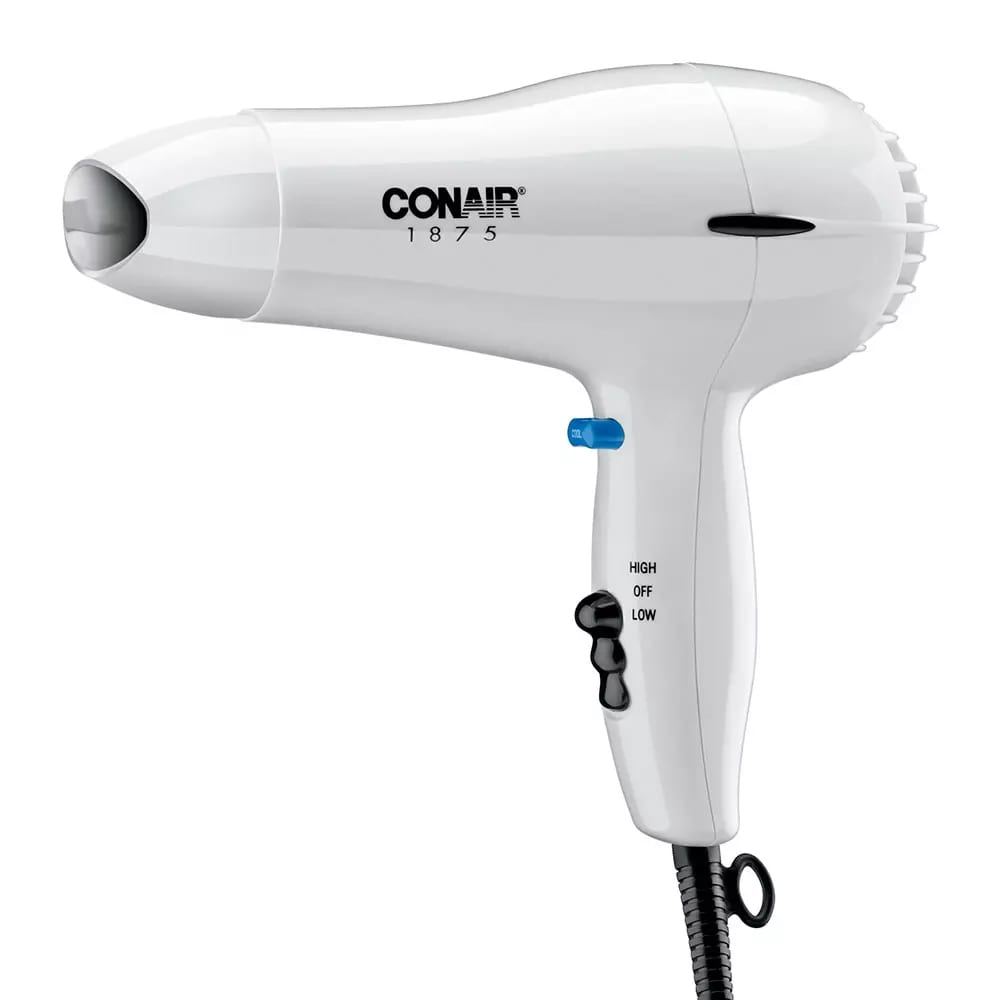 Conair Hospitality 247W Compact Hair Dryer w/ Cool Shot Button - (2) Heat/Speed Settings, White