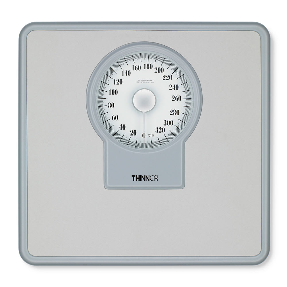 """Conair Hospitality MS-9560W Dial Scale w/ 350 lb Capacity - 11"""" x 11.5"""", White & Silver"""