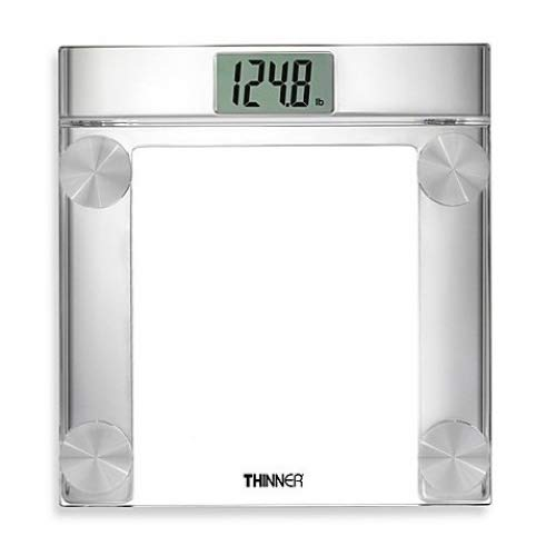 "Conair Hospitality TH360WH Digital Glass Scale w/ 400 lb Capacity - 13.25"" x 14.5"", Chrome"