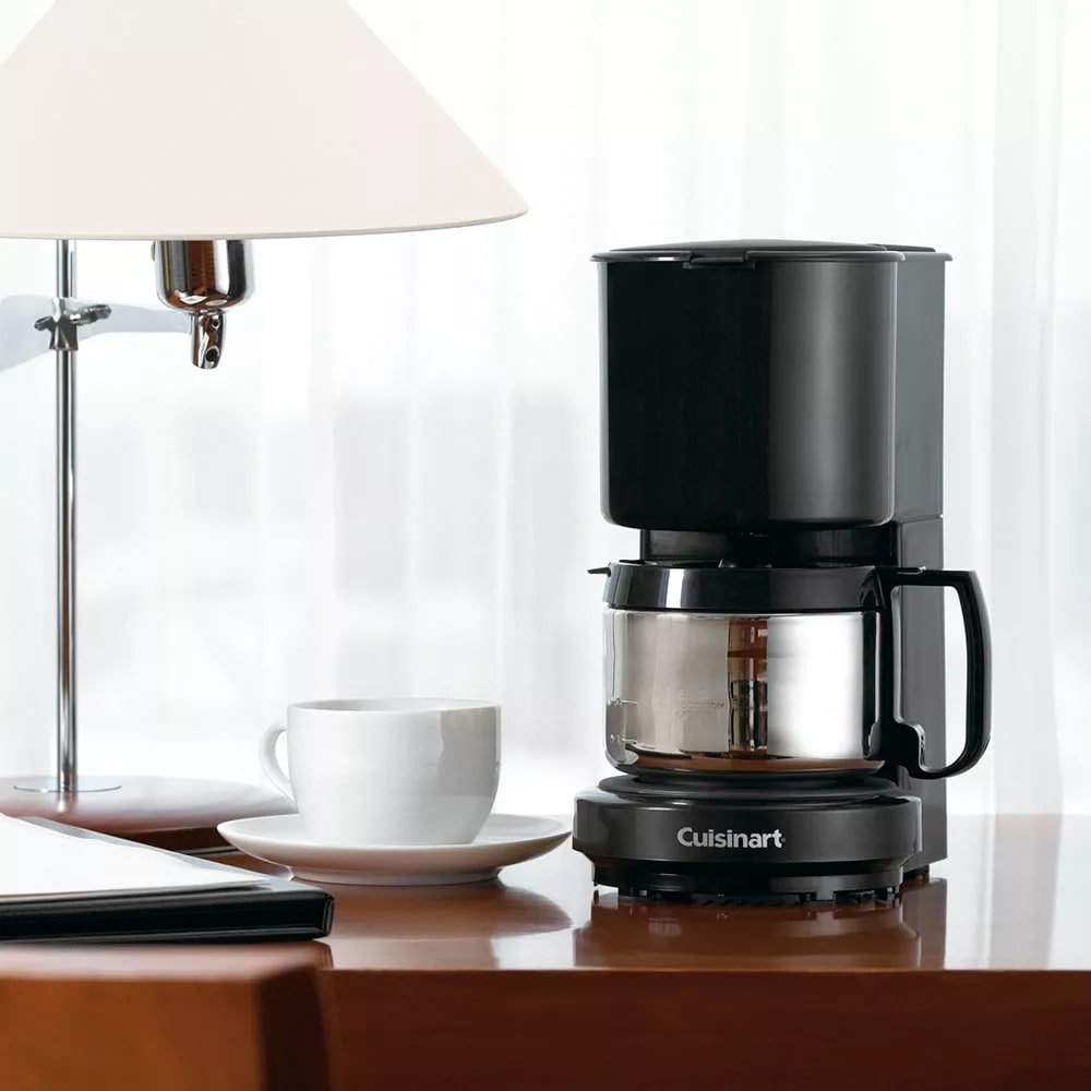 Conair Hospitality WCM08B 4 Cup Coffee Maker w/ Stainless Steel Carafe - Black, 120v