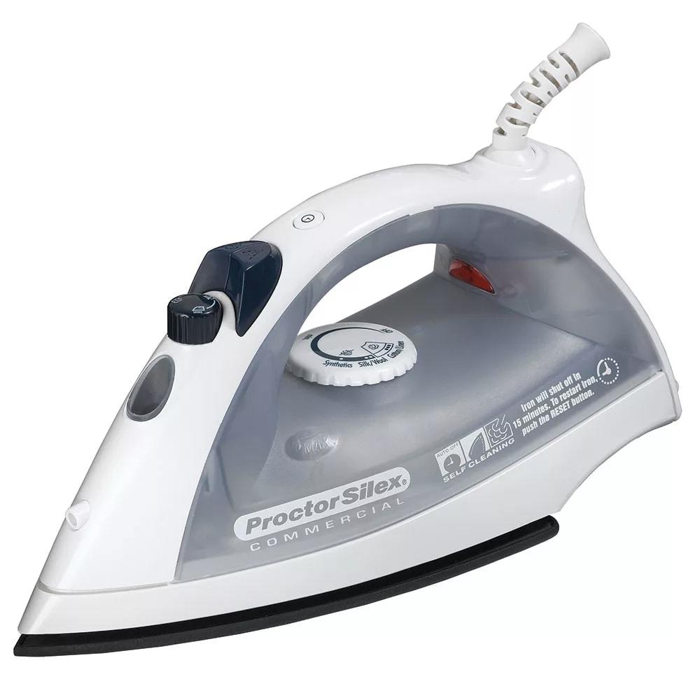 Proctor Silex 17515 Lightweight Iron w/ Adjustable Steam - White & Gray, 120v