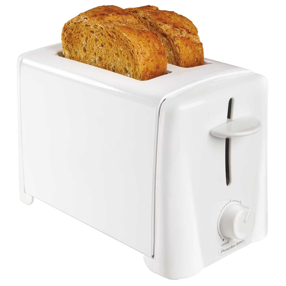 Proctor Silex 22611 2 Slice Toaster w/ Shade Selector Dial, White