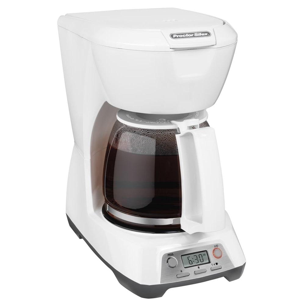 Proctor Silex 43671 12 Cup Coffee Maker w/ Auto Shut-Off - White, 120v