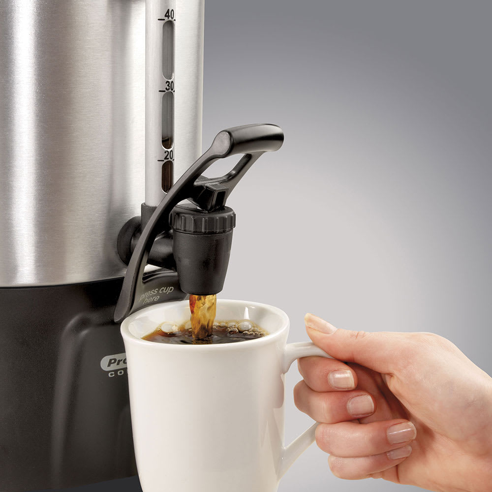 Proctor Silex 45100 100-Cup Coffee Urn w/ Dual Heaters & Tall Base, 120 V