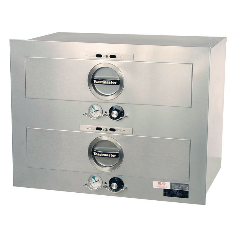 Toastmaster 3B80AT09 Built-In Insulated Warming Drawer, 2 Drawers, 7 dz Rolls/Drawer, 120v