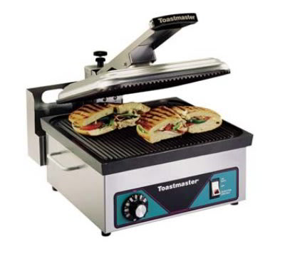 Toastmaster A710SA-120 Sandwich Griddle w/ Smooth Non Stick Plates, 120 V