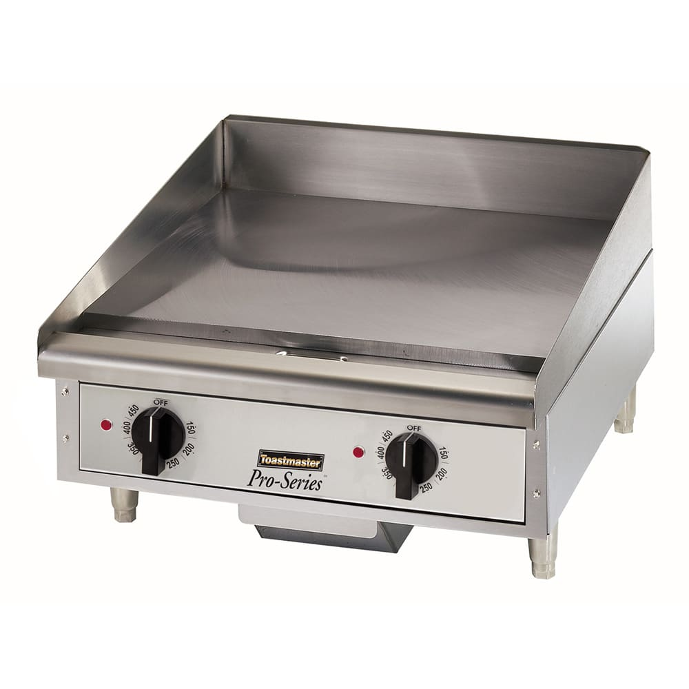 "Toastmaster TMGE24 24"" Electric Griddle - Thermostatic, 3/4"" Steel Plate, 208v/1ph"