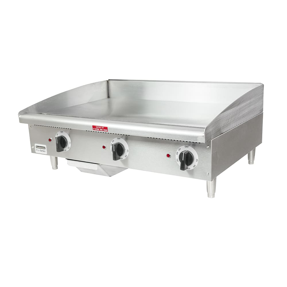 "Toastmaster TMGE36 36"" Electric Griddle - Thermostatic, 3/4"" Steel Plate, 240v/3ph"