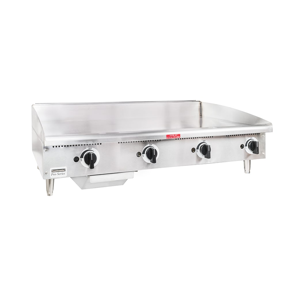 "Toastmaster TMGE48 48"" Electric Griddle - Thermostatic, 3/4"" Steel Plate, 240v/1ph"