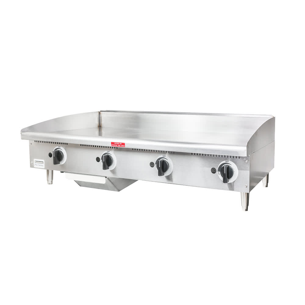 "Toastmaster TMGE48 48"" Electric Griddle - Thermostatic, 3/4"" Steel Plate, 240v/3ph"