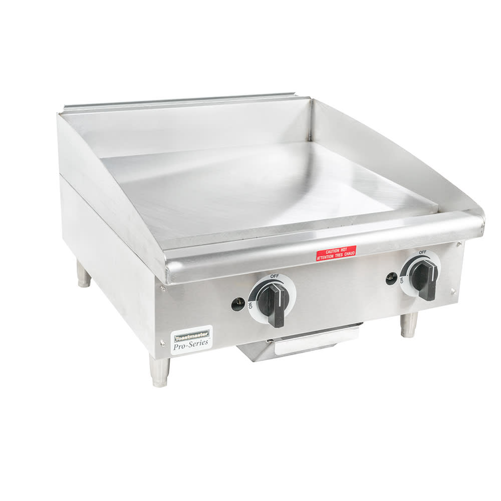 "Toastmaster TMGM24 24"" Gas Griddle - Manual, 3/4"" Steel Plate"