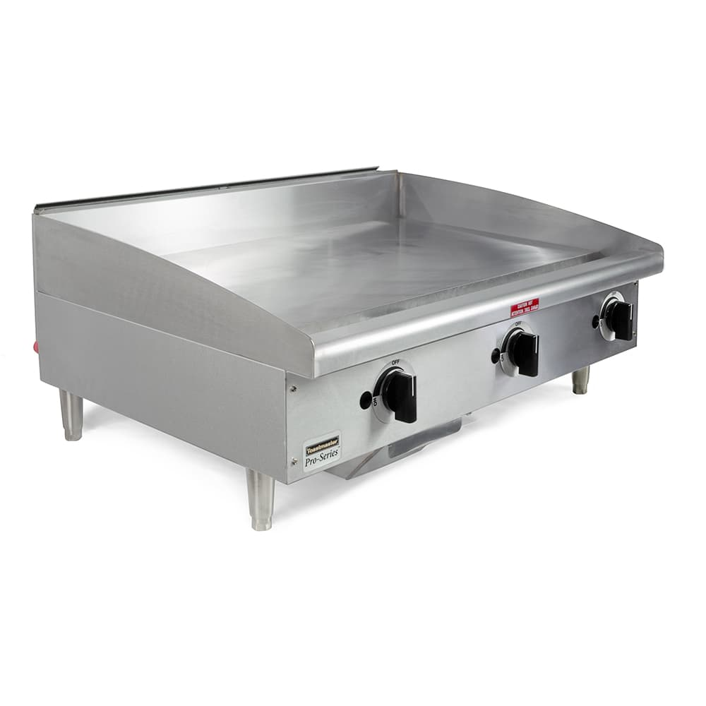 "Toastmaster TMGM36 36"" Gas Griddle - Manual, 3/4"" Steel Plate"