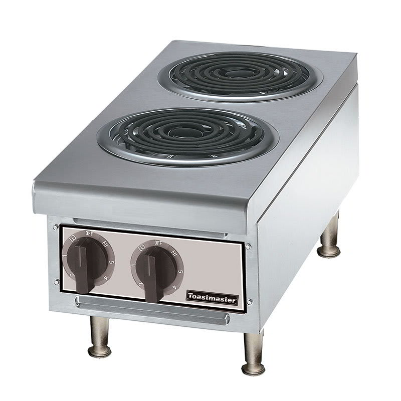 Toastmaster TMHPE 2081 12-in Hot Plate w/ 2-Coil Burners, 208 V