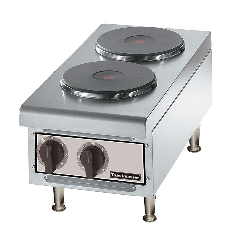 "Toastmaster TMHPF 2401 12"" Hot Plate w/ 2-Ceramic Burners, 240 V"