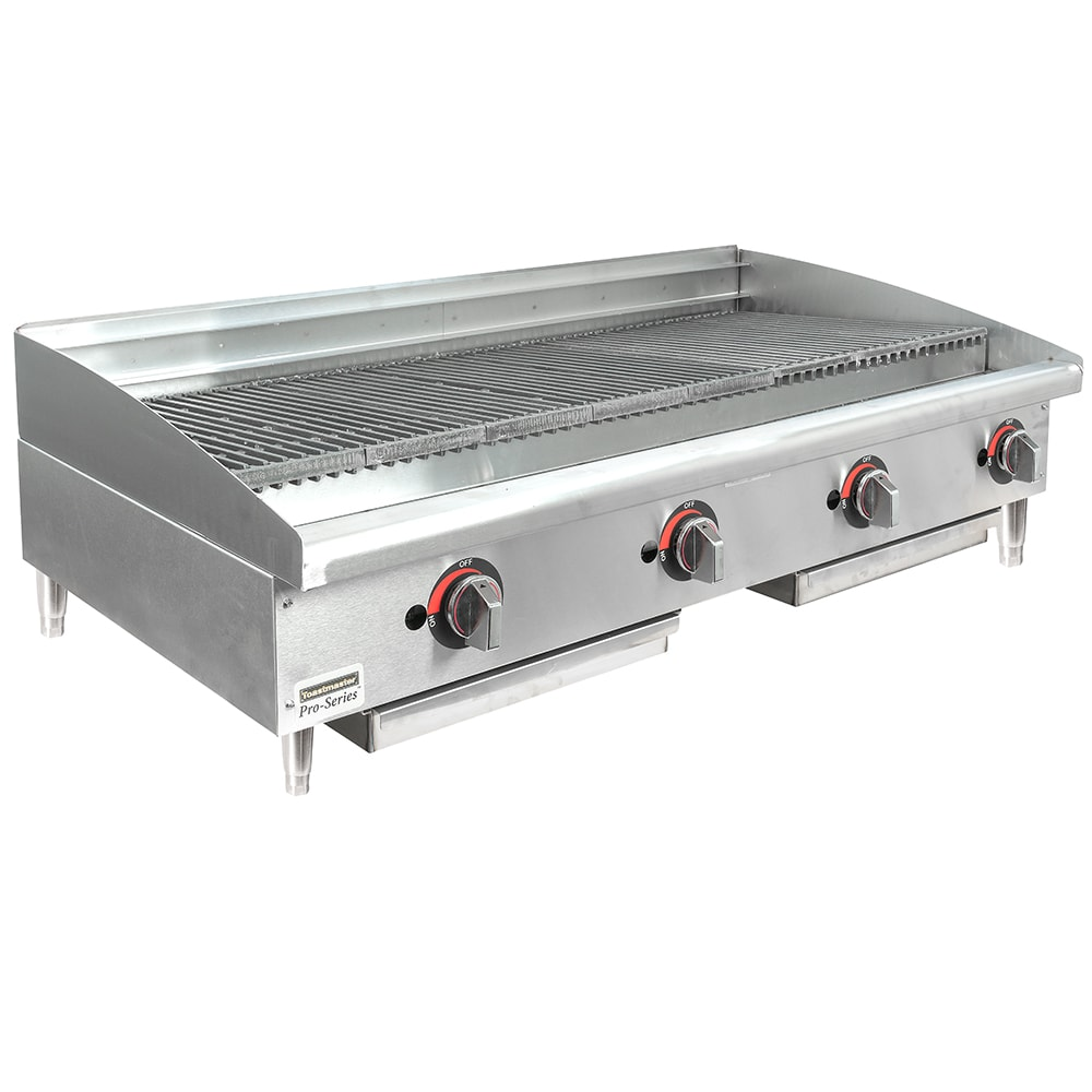 "Toastmaster TMRC48 48"" Gas Charbroiler w/ Reversible Grates, Radiant"