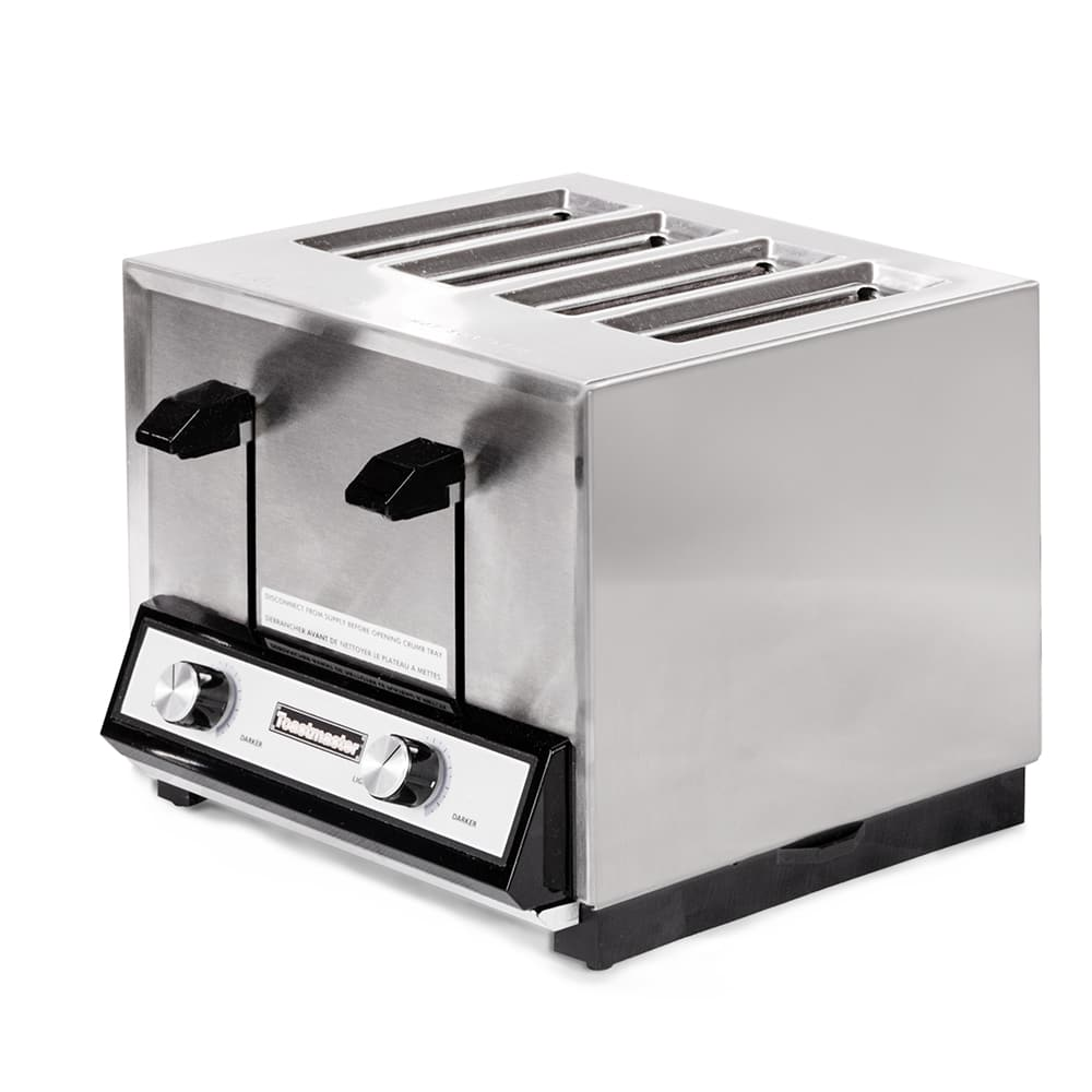 """Toastmaster TP409 4-Slot Toaster - 250-Slices/hr w/ 1.125"""" Product Opening, 120v"""