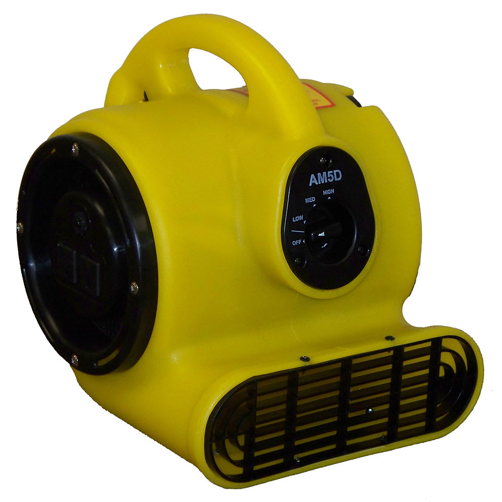 "Bissell AM5.D 13"" Mini Floor Dryer w/ 3 Speeds, Yellow"