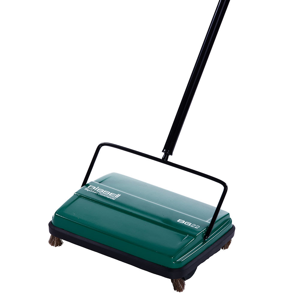 "Bissell BG22 9"" Sweeper w/ Single Rubber Brush, Green"