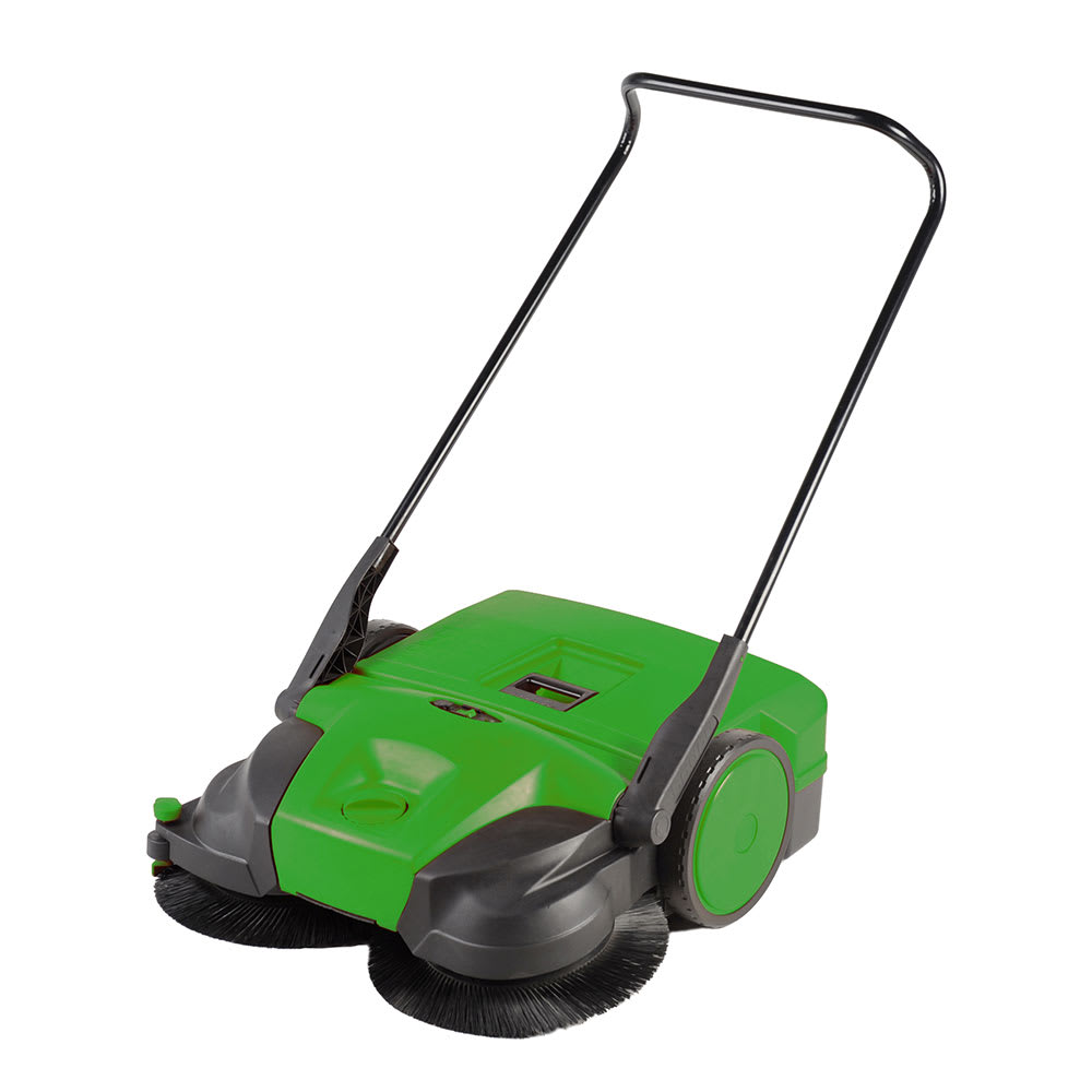 "Bissell BG-677 31"" Battery-Powered Deluxe Sweeper w/ (3) Brushes, Green"