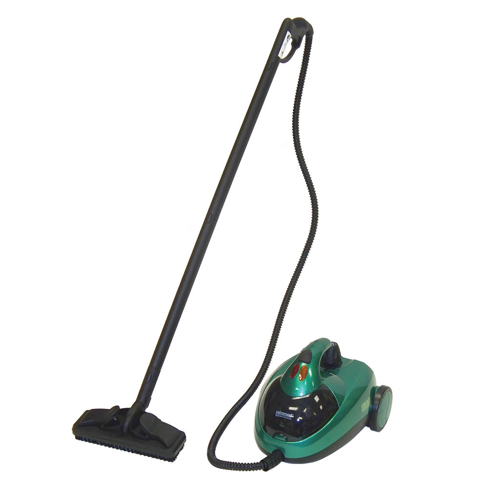 Bissell BGST500T 50 oz Hercules Vapor Scrub Steam Cleaner w/ Attachments - 1500 Watts, Green