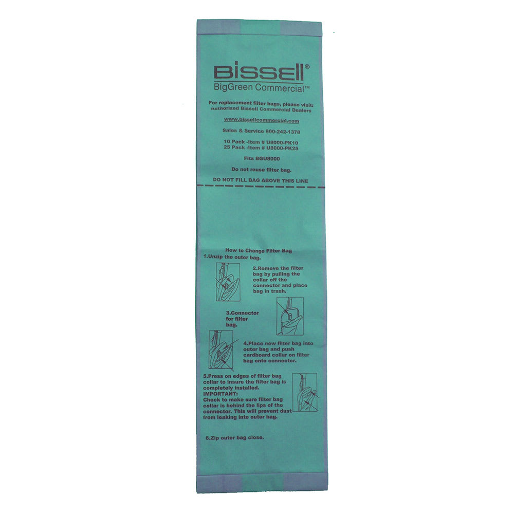 Bissell U8000-PK25 Replacement Bag for BGU8000EW