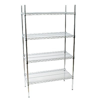 "StoreIt 118367 Chrome Wire Shelving Unit w/ (4) Levels, 36"" x 18"" x 72"""