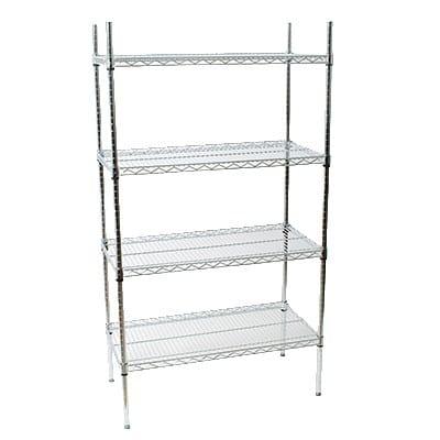 """StoreIt 124607 Chrome Wire Shelf Kit - 60""""W x 24""""D x 72""""H"""