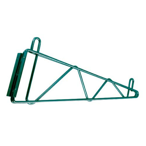 "StoreIt 21114 Bracket for 14"" Deep Wall Mounted Shelf, Green Epoxy"
