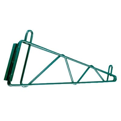 "StoreIt 21124 Bracket for 24"" Deep Wall Mounted Shelf, Green Epoxy"