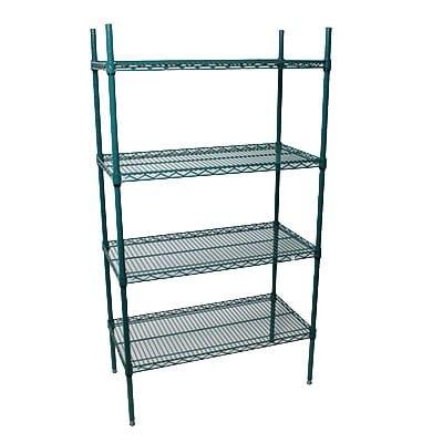 """StoreIt 224367 Epoxy Coated Wire Shelf Kit - 36""""W x 24""""D x 72""""H"""