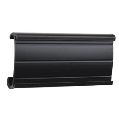 "StoreIt SI-LH-8-12-CS 3"" Shelf Label Holder - Plastic, Black"