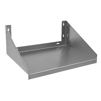 "StoreIt SI-MS-2424-SS Solid Wall Mounted Microwave Shelf, 24""W x 24""D, Stainless"