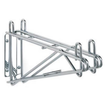 "StoreIt SI-SS-14DBL-CH 14"" Wire Double Wall-Mount Shelf Bracket, Chrome"