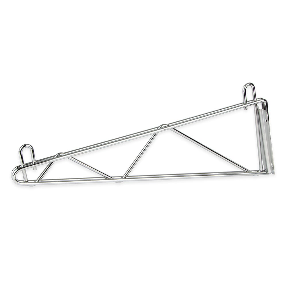 "StoreIt SI-SS-18SGL-CH 18"" Wire Wall-Mount Shelf Bracket, Chrome"