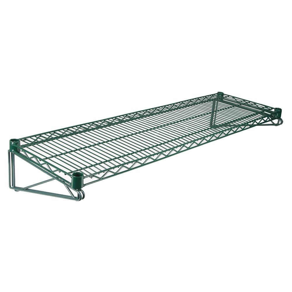 """StoreIt SI-WMK-4818-GE Direct Wall Mount Kit w/ (2) 18""""D Brackets & (1) 48""""W Wire Shelf, Epoxy"""
