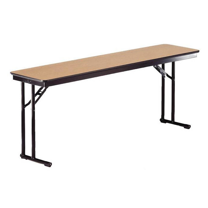 "Midwest Folding Products CP618EF Rectangular Folding Seminar Table w/ Walnut Laminate Top, 18"" x 72"""