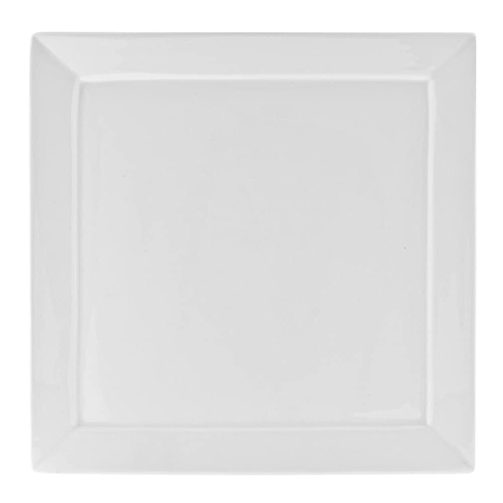 """10 Strawberry Street WEL-5SQ 5.25"""" Square Dinner Plate - Porcelain, White"""