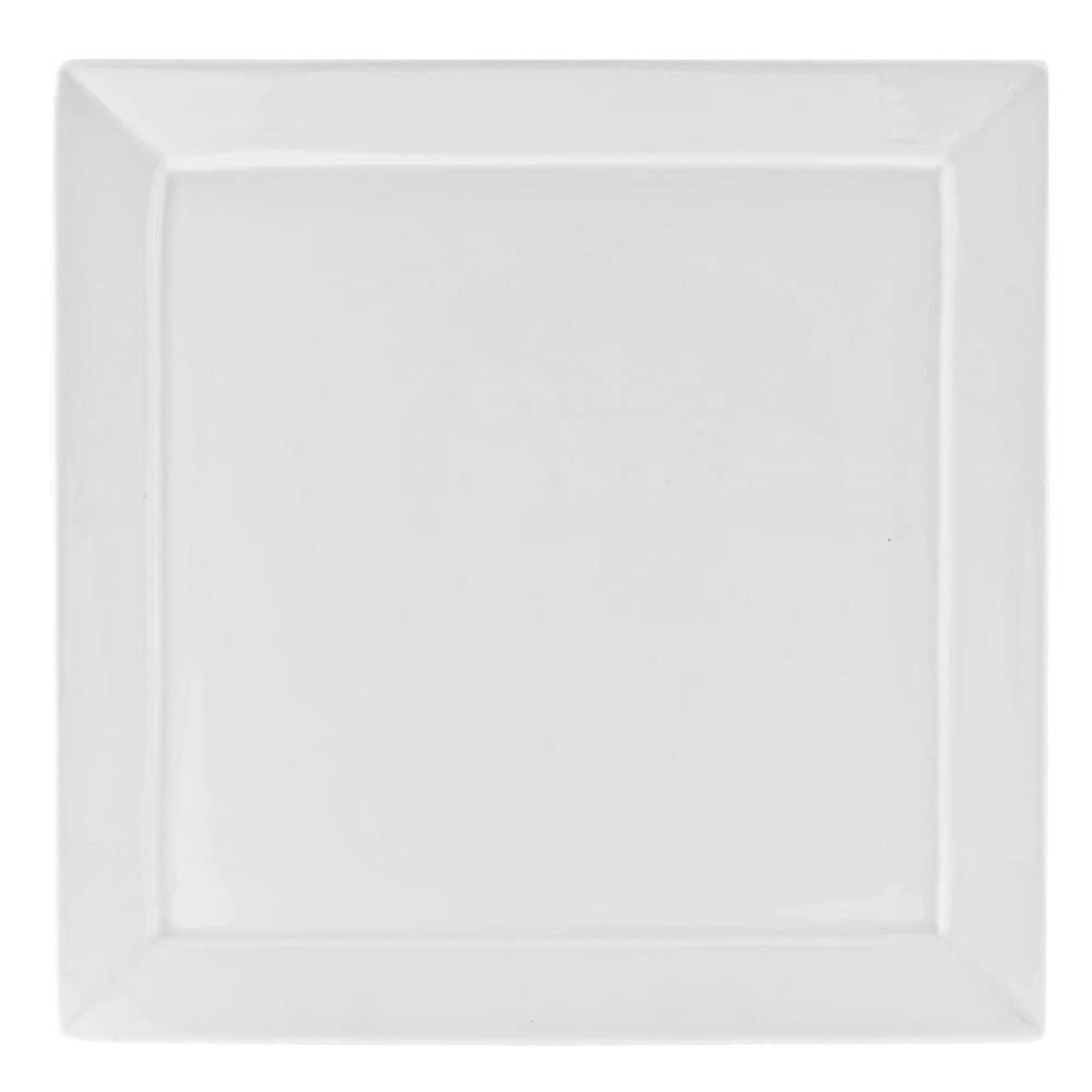 """10 Strawberry Street WEL-8SQ 7.25"""" Square Dinner Plate - Porcelain, White"""