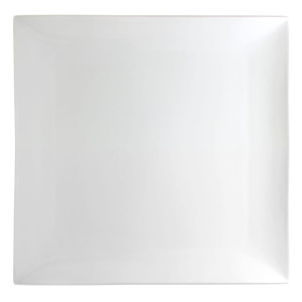 """10 Strawberry Street WTR-11CPSQ 10.63"""" Square Dinner Plate - Porcelain, White"""