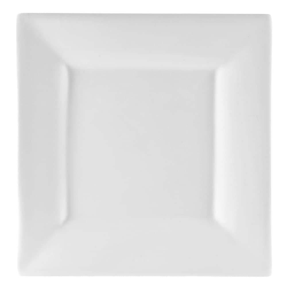 "10 Strawberry Street WTR-6SQ 6.38"" Square Appetizer Plate - Porcelain, White"
