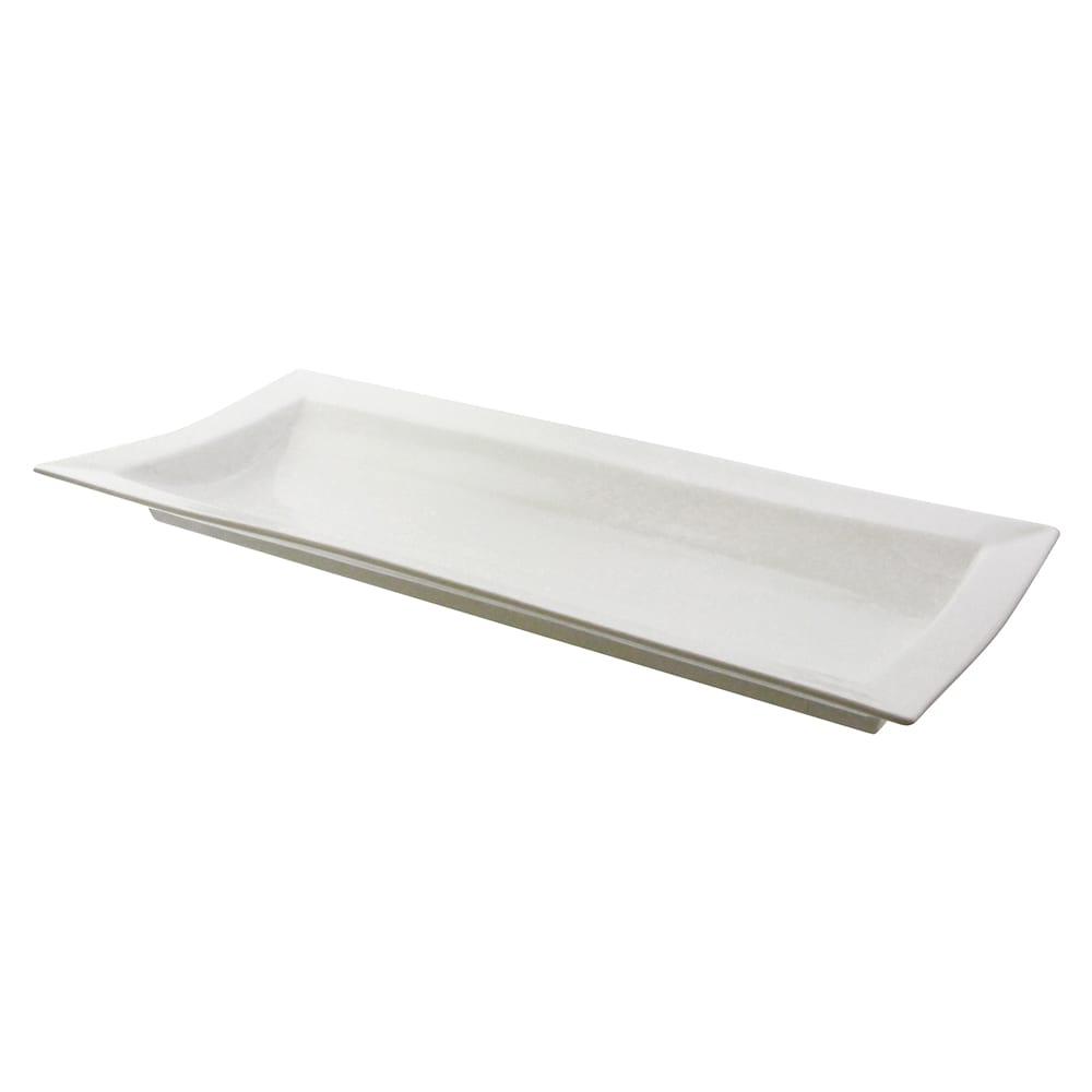 """10 Strawberry Street WTR-25RIDGEPLTR Rectangular Whittier Platter - 26.75"""" x 12"""", Porcelain, White"""