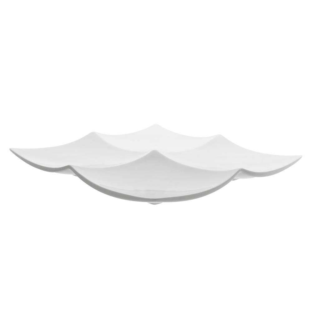 "10 Strawberry Street WTR-4SQTAPA 11.38"" Square Tapas Plate - Porcelain, White"