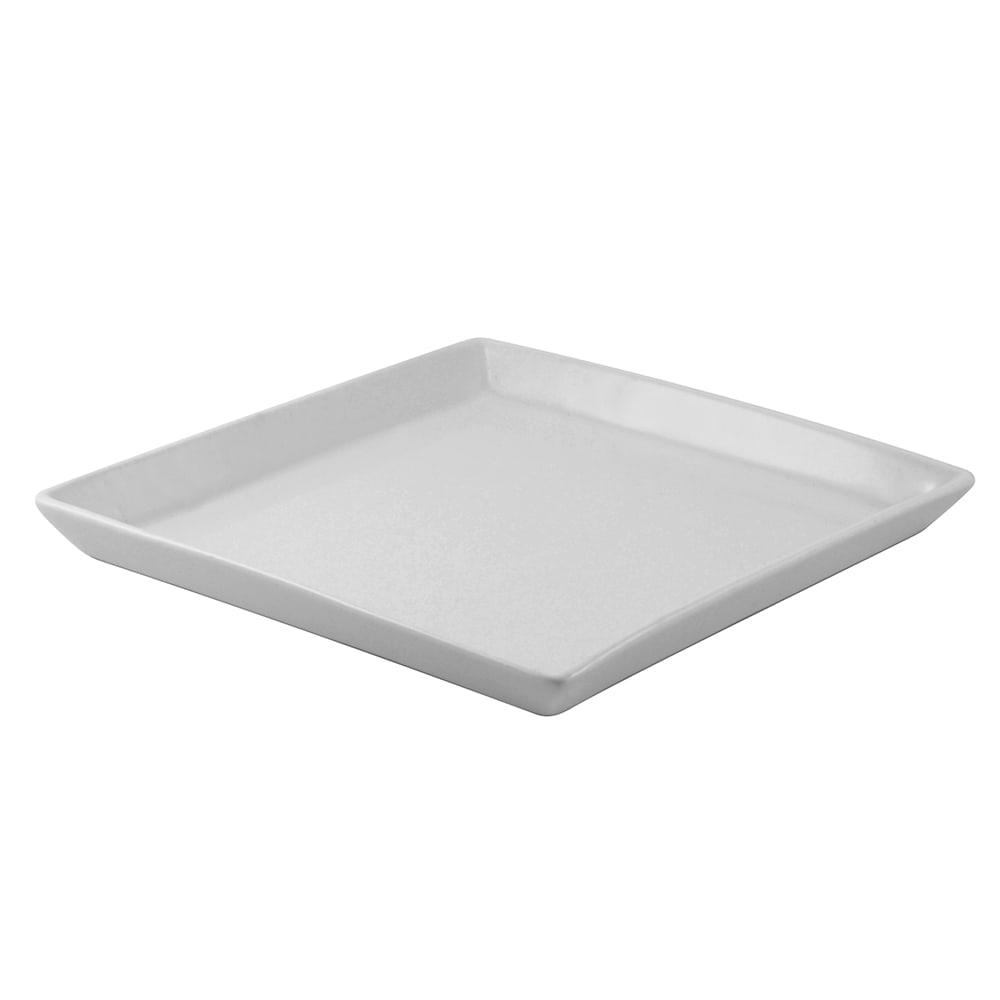 """10 Strawberry Street WTR-6SQDSH 6.38"""" Square Plate - Porcelain, White"""