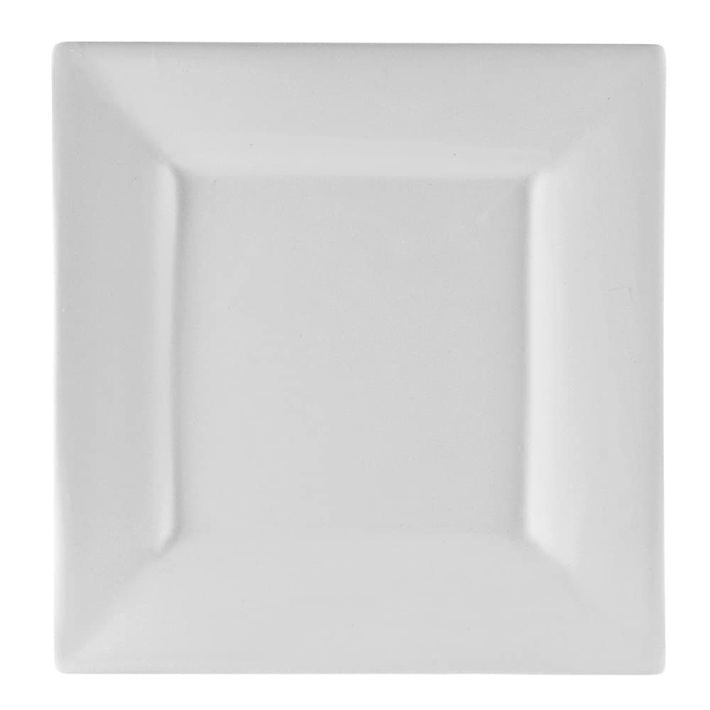 "10 Strawberry Street WTR-7SQ 7.25"" Square Salad/Dessert Plate - Porcelain, White"