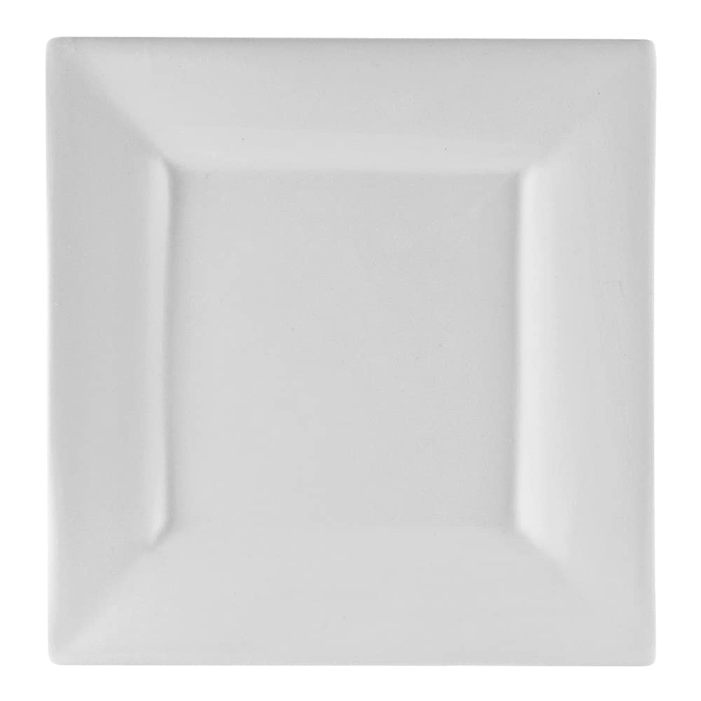 "10 Strawberry Street WTR-8SQ 7.38"" Square Lunch Plate - Porcelain, White"