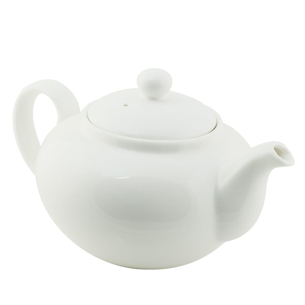 10 Strawberry Street WTR-8TEAPOT 20 oz Teapot - Porcelain, White